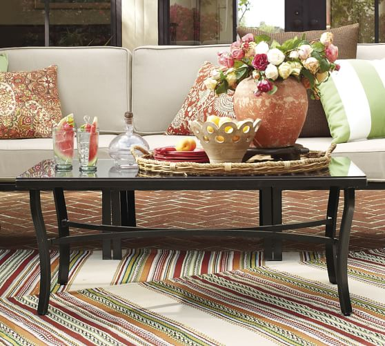 riviera coffee table pottery barn
