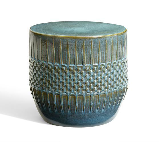 Ceramic Ethnic Accent Side Table Pottery Barn