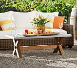 Abbott Rectangular Zinc-Top Coffee Table