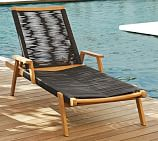 Palmer Rope Stacking Single Chaise, Teak, Natural