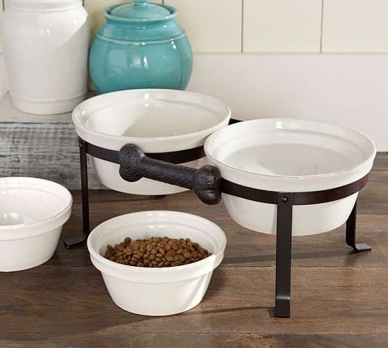 Cambria Pet Bowl & Stand | Pottery Barn - photo#43