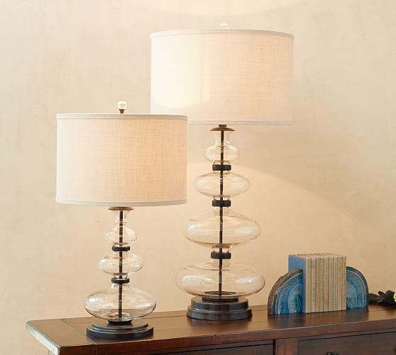 estelle stacked glass table lamp base pottery barn. Black Bedroom Furniture Sets. Home Design Ideas