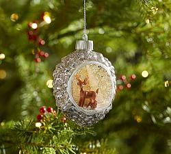 Jingle Bell Peace Sign Heart Ornament Pottery Barn