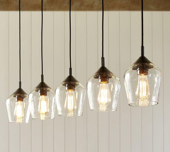 Donovan Glass 5 Light Pendant