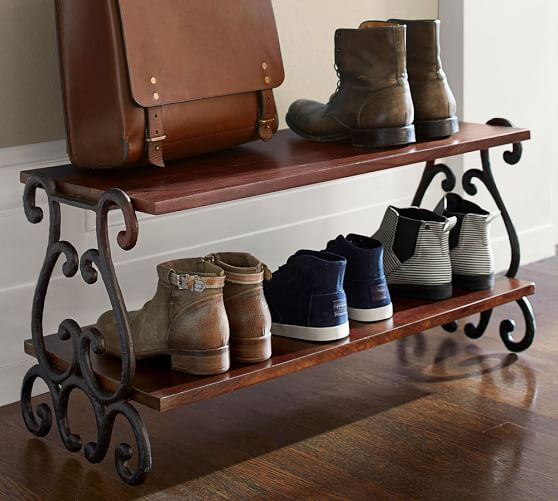 moran shoe rack pottery barn. Black Bedroom Furniture Sets. Home Design Ideas