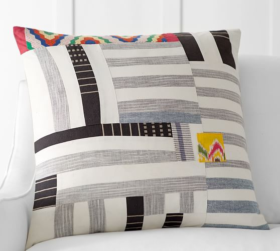 Pauline Boyd Patchwork Coastline Pillow Cover Pottery Barn