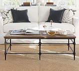 Parquet Reclaimed Wood & Metal Rectangular Coffee Table