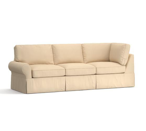 Pb Basic Sofa Slipcover Ebay: PB Basic Sectional Component Slipcovers