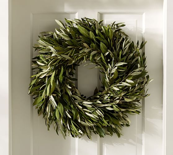 Live Olive Leaf & Myrtle Wreath