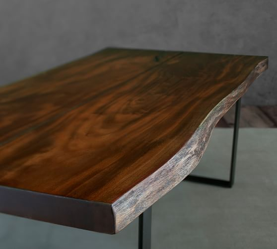Live Edge Square Coffee Table: Waller Live-Edge Coffee Table