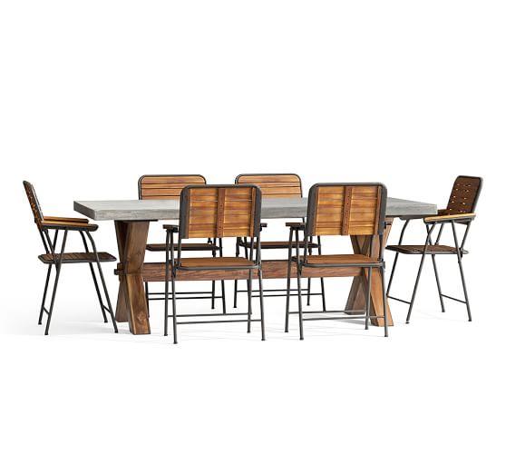 Abbott Rectangular Dining Table Amp Tolland Folding Chair