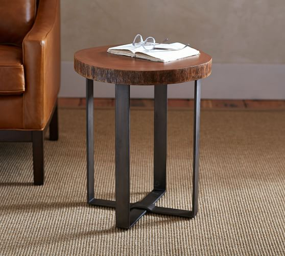 Best Finish For Live Edge Coffee Table: Waller Live-Edge Side Table