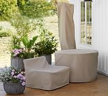 Torrey Custom-Fit Outdoor Furniture Covers - Left Square-Arm Chair