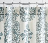 Lucianna Medallion Shower Curtain, Blue
