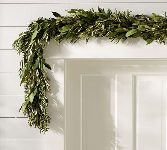 Live Olive Leaf u0026 Myrtle Garland : Pottery Barn