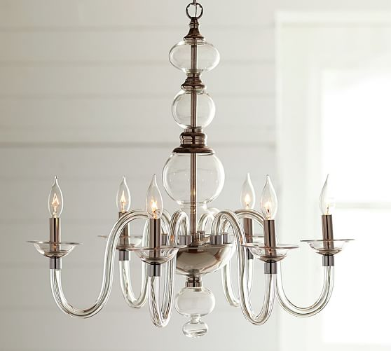 Glass chandeliers