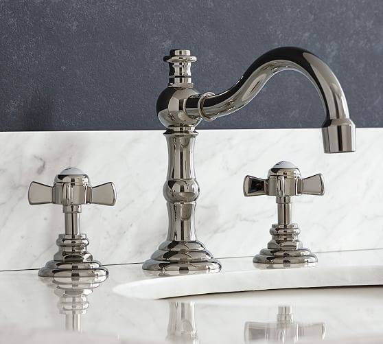 Langford Cross Handle Widespread Bathroom Faucet Pottery Barn
