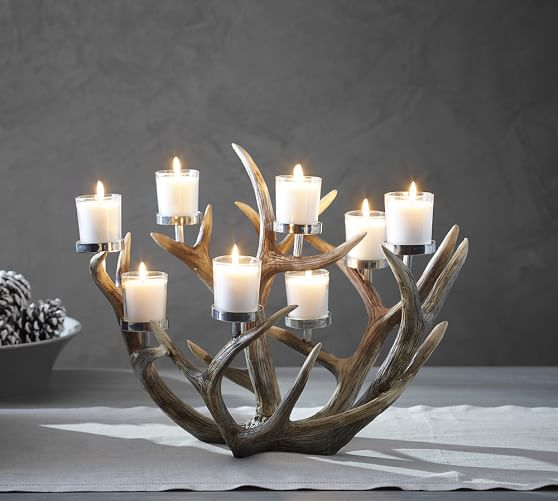 Antler multi votive centerpiece pottery barn
