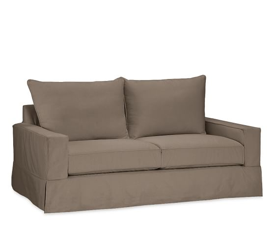 Slipcover For Sofa Without Arms: PB Comfort Square Arm Furniture Slipcovers