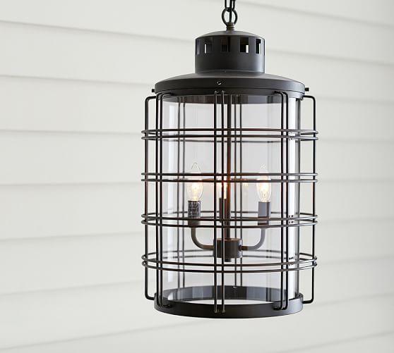 Pottery Barn Outdoor Pendant Lighting: Bronze Nautical Indoor/Outdoor Pendant