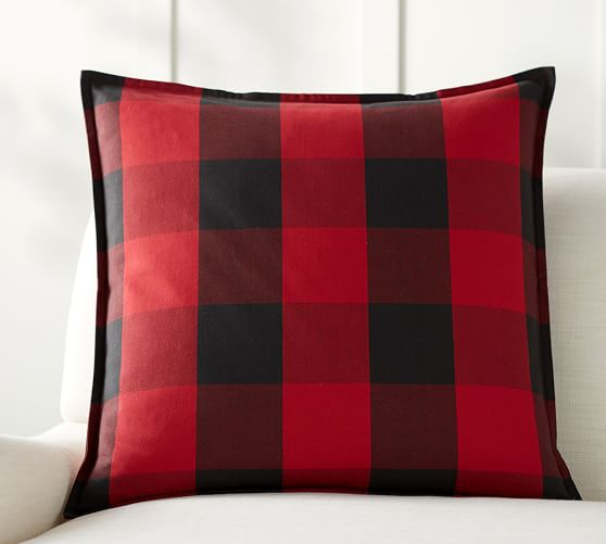 Buffalo Check Plaid Pillow Cover Pottery Barn
