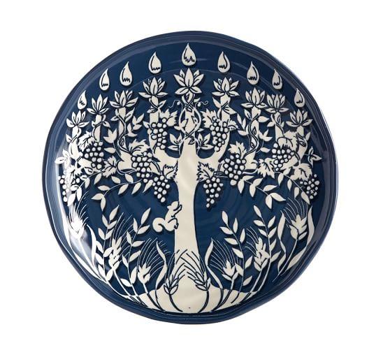 Tree of Life Menorah Salad Plate, Set of 4