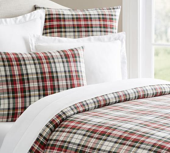 Denver Plaid Yarn Dyed Duvet Cover Amp Sham Pottery Barn