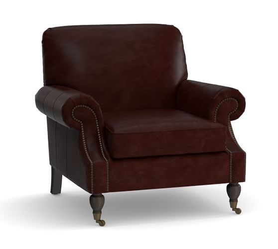 Brooklyn Leather Armchair, Espresso