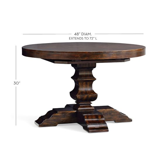 Banks Extending Pedestal Dining Table