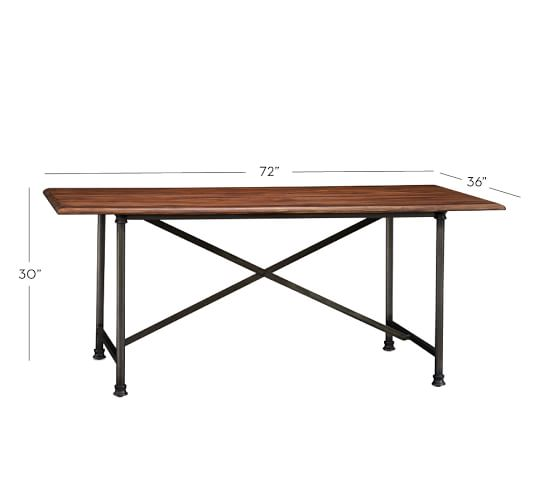 austin fixed dining table pottery barn