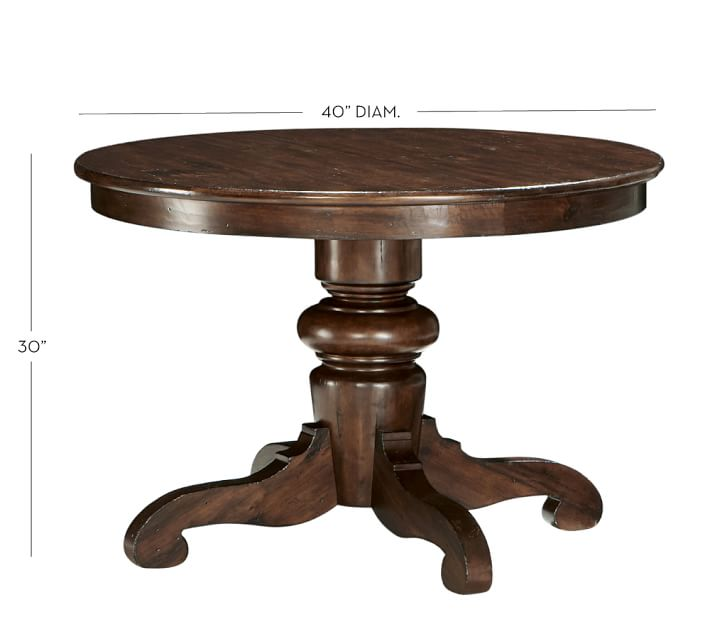 tivoli fixed pedestal dining table o: 40 inch round pedestal dining table