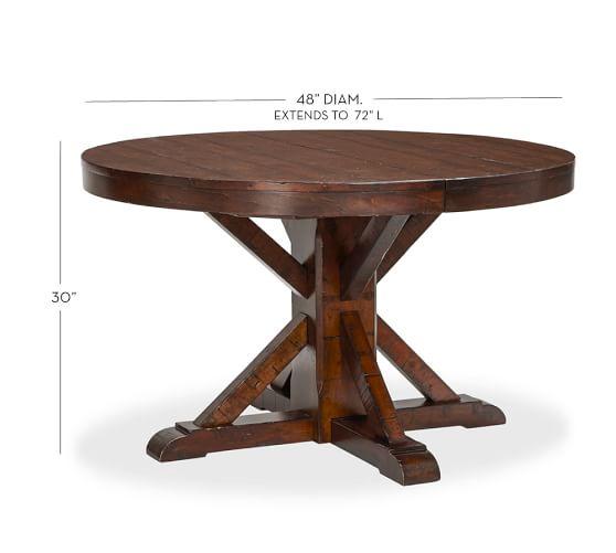 Benchwright Extending Pedestal Dining Table
