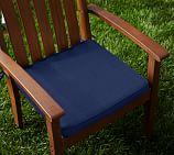 Sunbrella&#0174 Piped Outdoor Dining Chair Cushion; Cobalt