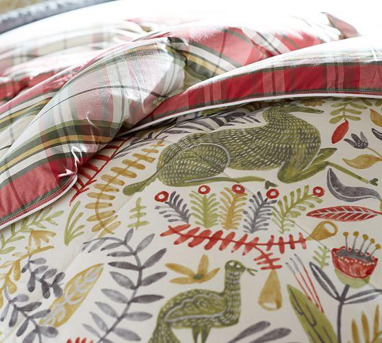 Pottery Barn Plaid Bedding: Llew Deer Reversible Denver Plaid Comforter & Sham
