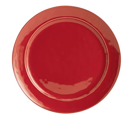 cambria dinner plate set of 4 red pottery barn