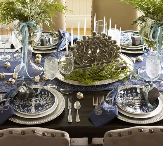 hanukkah napkins set of 6 pottery barn. Black Bedroom Furniture Sets. Home Design Ideas