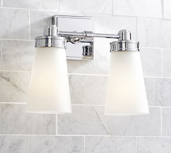 Triple Sconce Bathroom: Pearson Double Sconce