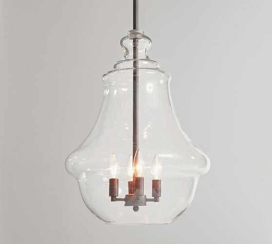Glass Pendant Lights Pottery Barn : Wavy glass pendant pottery barn
