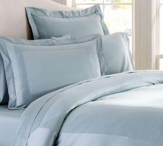 Italian 600-Thread-Count Duvet Cover, Twin, Porcelain Blue