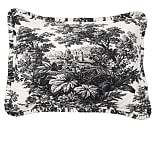 Matine Toile Wholecloth Quilted Sham, Standard, Black