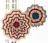 Indoor/Outdoor Burlap Fourth of July Star, 16