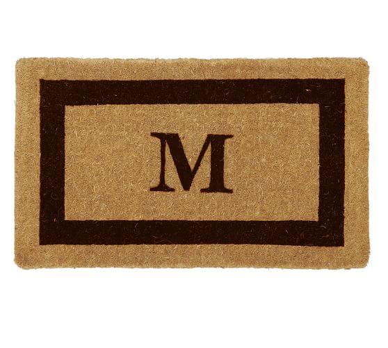 Monogrammed Doormat, 22 x 36