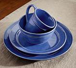 Cambria Dinnerware, 16-Piece Soup Bowl Set - Blue