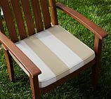 Dining Chair Cushion, Sunbrella® Awning Stripe, Linen Sand Striped