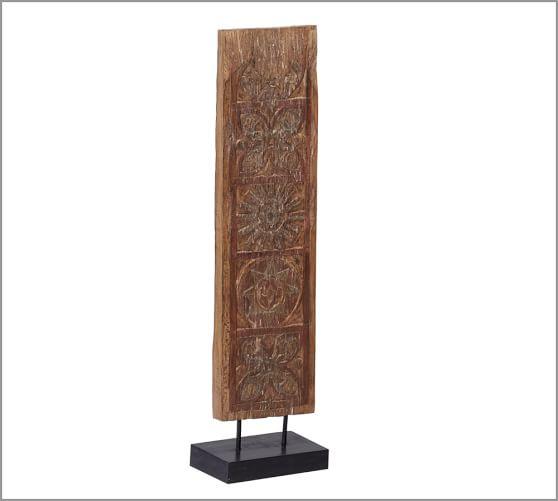 Carved Wood Timber Stand, Medium Symbol
