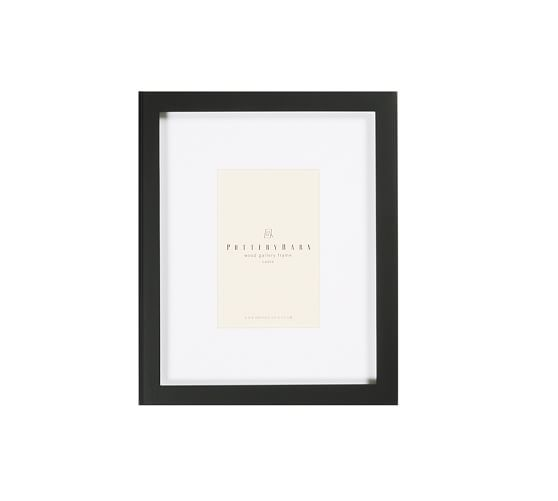 "Wood Gallery Picture Frame, 4 x 6"", Black"