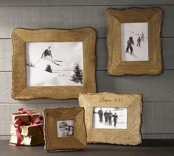 Tye Mill Bark Rim Picture Frame, 7 x 5