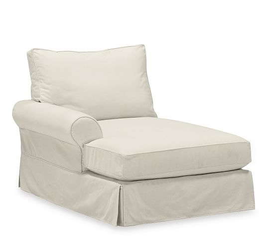 Build your own box edge pb comfort roll arm slipcovered for Box edge chaise cushion