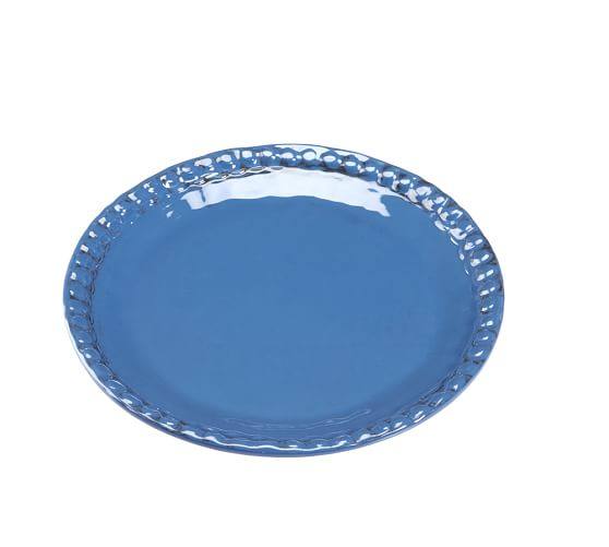 Beaded Melamine Salad Plate, Indigo Blue, Set of 4