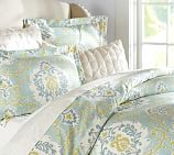 Joyce Ikat Duvet Cover, Twin, Blue